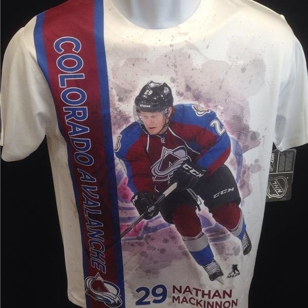 hot sale online 6d114 63721 Shop Colorado Avalanche Nathan Mackinnon #29 Youth Sizes M-L ...