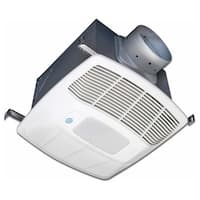 Air King EL130SGH 130 CFM 0.6 Sone Ceiling Mounted LED Light Humidity Sensing and Motion Sensing Energy Star Rated Exhaust Fan