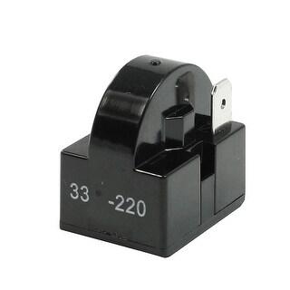 Unique Bargains Black Plastic Shell 33 Ohm Single Pin PTC Starter Relay for Refrigerator