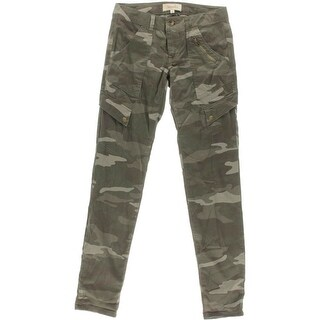 Rewind Womens Juniors Camouflage Stretch Cargo Pants