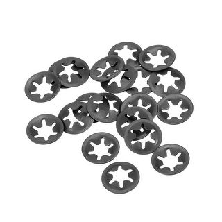 uxcell Internal Tooth Star Washers M6 x 16mm 65Mn Black Oxide Finish Push On Lock Washer Locking Clips Fastener 200pcs