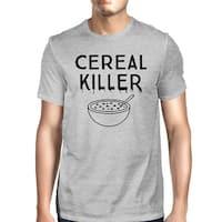 Cereal Killer T-Shirt Mens Dark Gray Funny Graphic Halloween Shirt