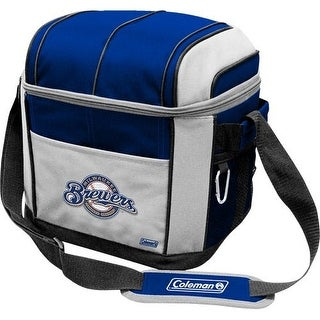 Coleman 24 Can Soft Sided Cooler - Milwaukee Brewers - Blue/Gray