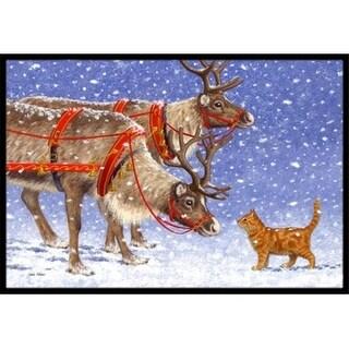 Carolines Treasures ASA2174JMAT Reindeer & Cat Indoor or Outdoor Mat 24 x 36