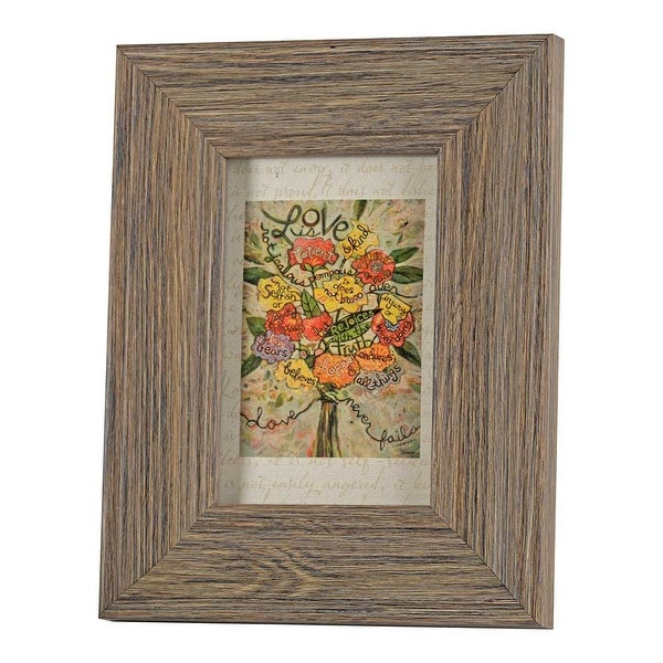 """9"""" x 7"""" Orange and Red Rectangular Framed Floral Wall decor - N/A"""