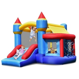 Link to Costway InflatableBounce House Castle Slide Bouncer Kids Shooting Net - 94.5''x 106.5''x 79'' (L x W x H) Similar Items in Outdoor Play