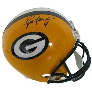 Brett Favre Signed Green Bay Packers Full Size Replica Helmet JSA+FAVRE ITP