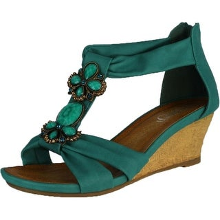 Refresh Women Ginny-02 Sandals - Turquoise - 6 b(m) us