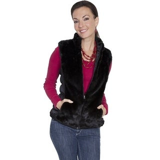 Scully Western Vest Womens Reversible Faux Fur Zipper Front