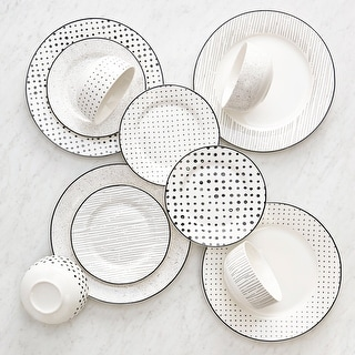 """Link to Dinnerset 12PC Black & White Sketch - 10'5"""" x 0'5"""" Similar Items in Flatware"""