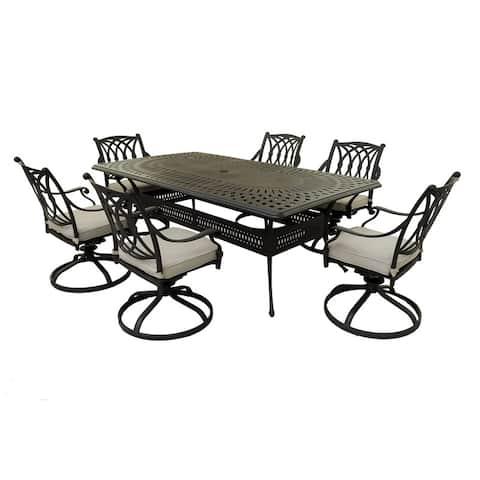 Marina Marieville 7 Piece outdoor Aluminum Dining Set