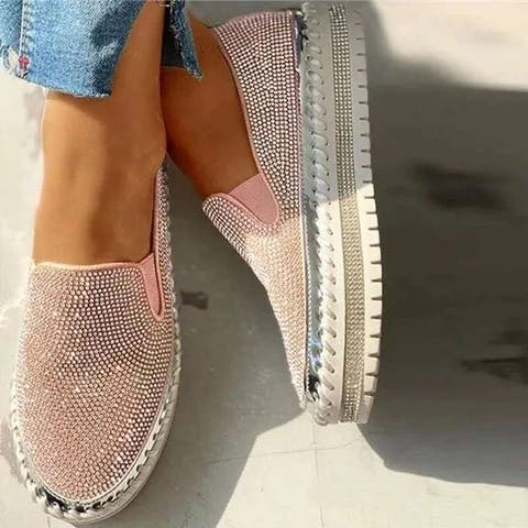 Casual Rhinestone All-Match Student Shoes