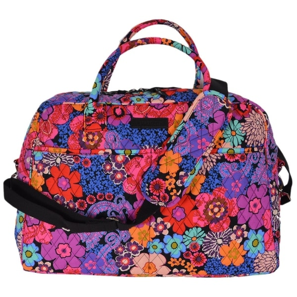 78d4cedd2b31 Shop Vera Bradley FLORAL FIESTA Cotton Weekender Duffle Travel Bag ...