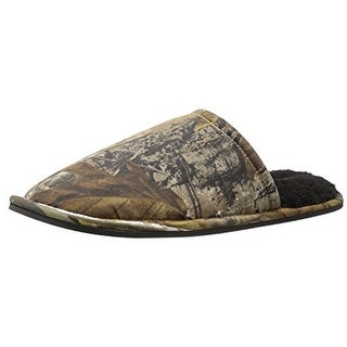 Wembley Mens Real Tree Scruff Mule Slippers Camouflage Lined