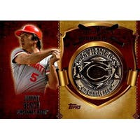 Signed Bench Johnny Cincinnati Reds Johnny Bench 2015 Topps  1st Home Run Medallion Unsigned Baseba