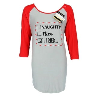 Not a Morning Person Women's Christmas Naughty Nice Night Shirt Gown