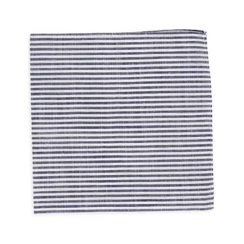 Tommy Hilfiger Mens Stripe Pocket Square, blue, One Size - One Size