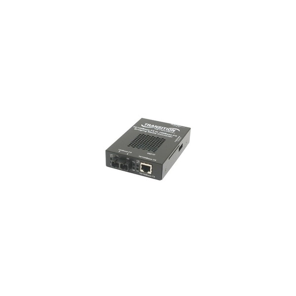 Transition Networks SBFTF1011-105-NA Transition Networks 10/100 Bridging 10/100Base-TX to 100Base-FX Media Converter - 1 x RJ-45