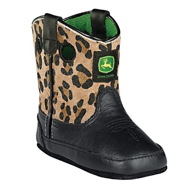 John Deere Baby Green Camo Soft Sole Crib Shoes 0-4