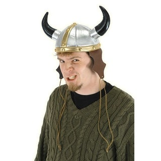 Viking Warrior Adult Costume Hat - Silver