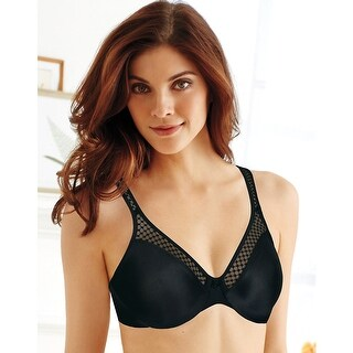 Bali Passion for Comfort® Underwire Bra - Size - 36B - Color - Black/Nude Check Lace