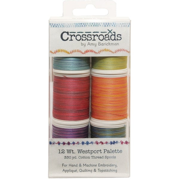 Crossroads Sulky Blendables 12 Weight 6/Pkg-Westport Collection
