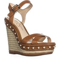 Jessica Simpson Aeralin Wedge Slingback Sandals, Sun Tan
