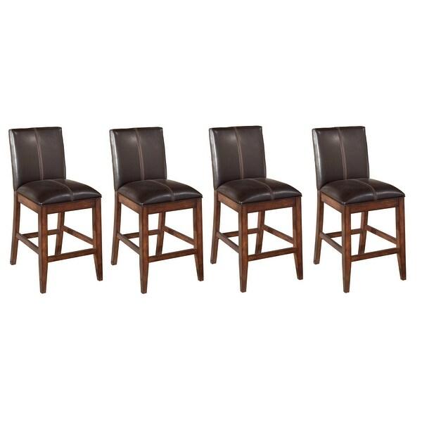 Shop Ashley Furniture D442 224 Burnished Dark Brown Larchmont Bar