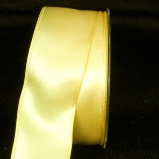 "Sunshine Yellow Satin Wired Craft Ribbon 1.625"" x 44 Yards"