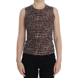 Dolce & Gabbana Dolce & Gabbana Multicolor knitted wool tank top - it38-xs
