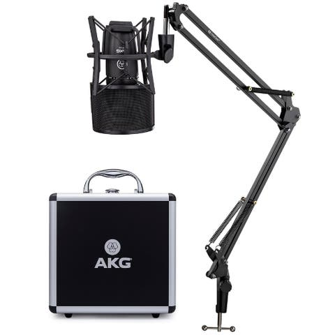 AKG P220 High-Performance Condenser Microphone Bundle with Accessory