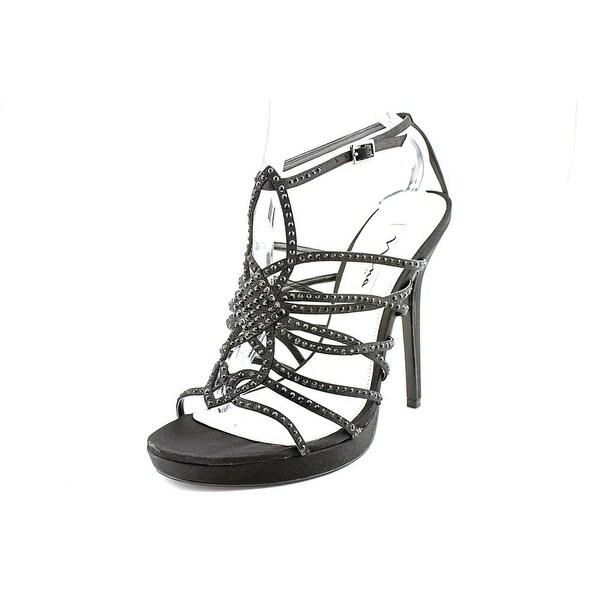 Nina Foxy Black Luster Sandals