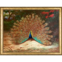 Archibald Thorburn 'Peacock and Peacock Butterfly' Hand Painted Oil Reproduction