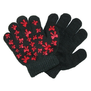CTM® Toddlers Gripper Shapes Stretch Winter Gloves - One Size