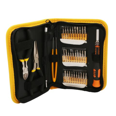 35 Pieces Multi-Purpose Precision Screwdriver Set, Slim Zipped Case