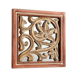 Cyan Design Vinum Mirror 10 x 10 Vinum Square Wood Frame Mirror Made in India - Antique Cherry
