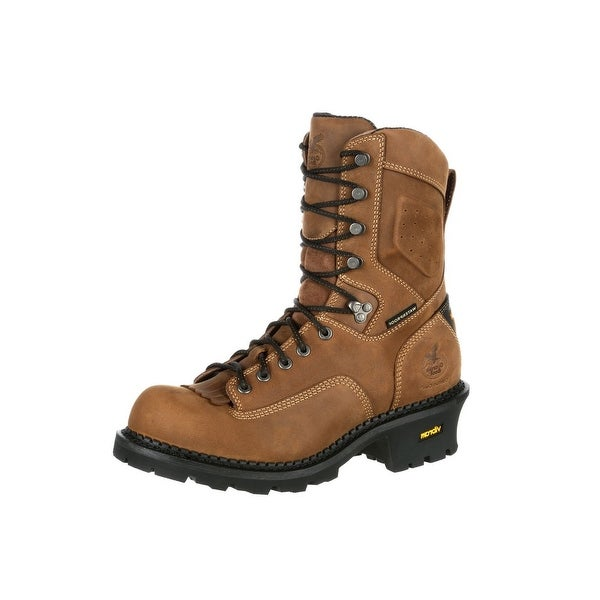 Georgia Boot Work Mens Comfort Core Logger Waterproof Brown