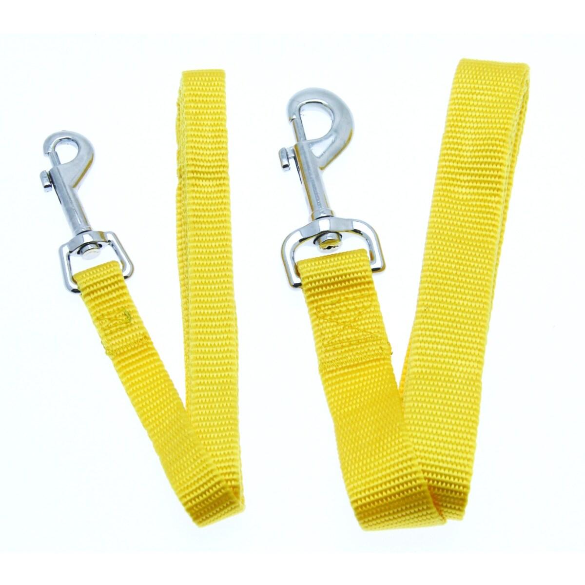 Barking Basics Dog Leash - Yellow (Yellow - 5/8 x 4 Length)