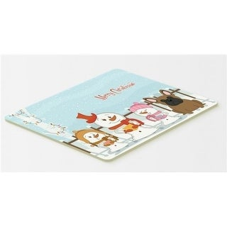 Carolines Treasures BB2344CMT Merry Christmas Carolers French Bulldog Brown Kitchen or Bath Mat 20 x 30