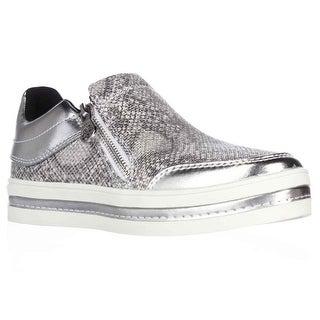 GUESS Zanna Side Zip Fashion Sneakers - Silver Multi