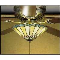 Meyda Tiffany 27449 Stained Glass / Tiffany Fan Light Kit from the Fixtures Collection - tiffany glass