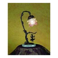 Meyda Tiffany 17855 Single Light Down Lighting Table Lamp from the Cherub Collection - Bronze - n/a