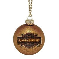 Game of Thrones Handcrafted Glass Holiday Ornament