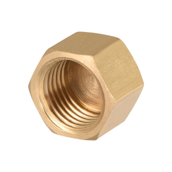 """Brass Cap, Hex Pipe Fitting 1/4""""G Female Pipe Connector - 1/4"""" G 1pcs"""