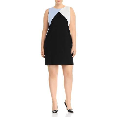 Love...Ady Womens Plus Party Dress Sleeveless Above Knee