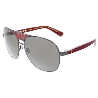 Just Cavalli JC 509 20A Black/Red Aviator Sunglasses - 58-14-130