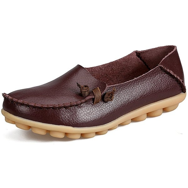 e56c5f2aa788e LabatoStyle Women's Casual Leather Loafers Driving Moccasins Flats Shoes -  8.5