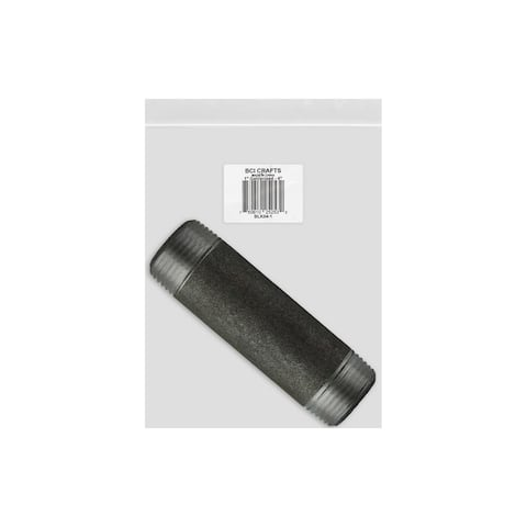 Blk04-1 bci crafts galvanized pipe 1x4 black