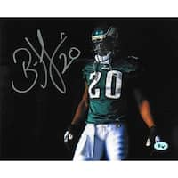 Brian Dawkins signed Philadelphia Eagles 16X20 Photo 20 horizontalgreen jerseywvisor