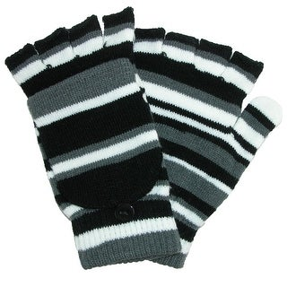 Grand Sierra Women's Striped Convertible Mitten to Glove - One size